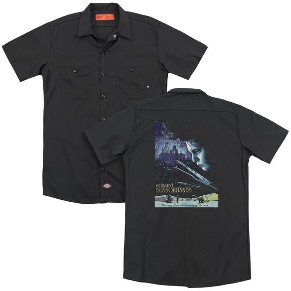 Edward Scissorhands Poster(Back Print) Adult Work Shirt