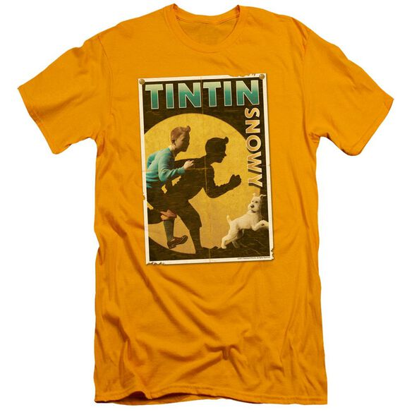 Tintin Tintin & Snowy Flyer Short Sleeve Adult T-Shirt