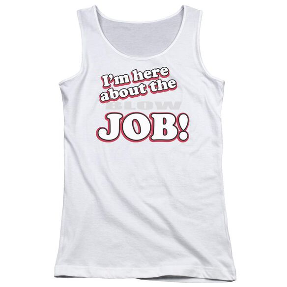 Here About Job Juniors Tank Top