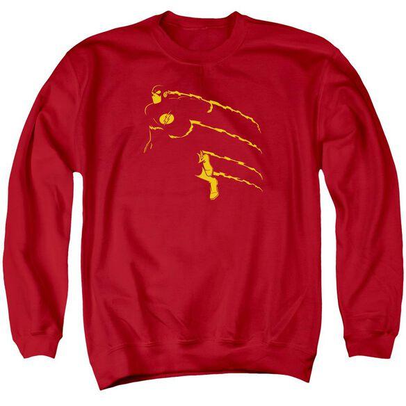 Dc Flash Min Adult Crewneck Sweatshirt