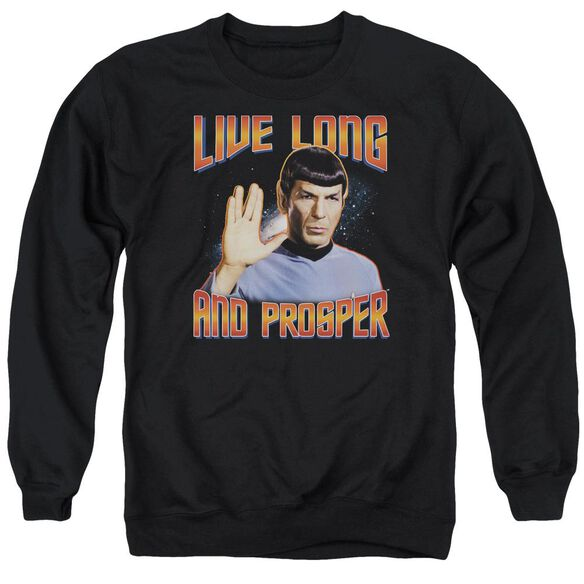 St Original Live Long And Prosper - Adult Crewneck Sweatshirt - Black