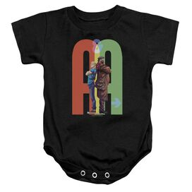 Archer & Armstrong Back To Bak Infant Snapsuit Black