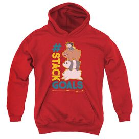 We Bare Bears Stack Goals Youth Pull Over Hoodie