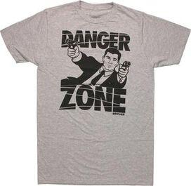 Archer Danger Zone Guns T-Shirt Sheer