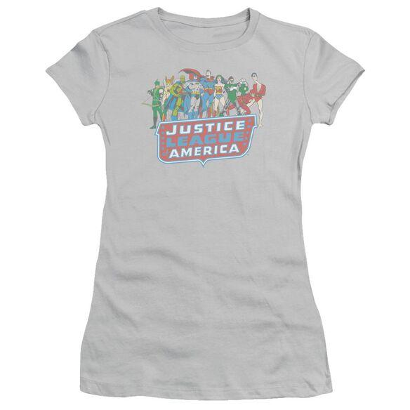 Dc Jla Lineup Short Sleeve Junior Sheer T-Shirt