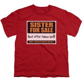 SISTER FOR SALE - YOUTH 18/1 - RED T-Shirt