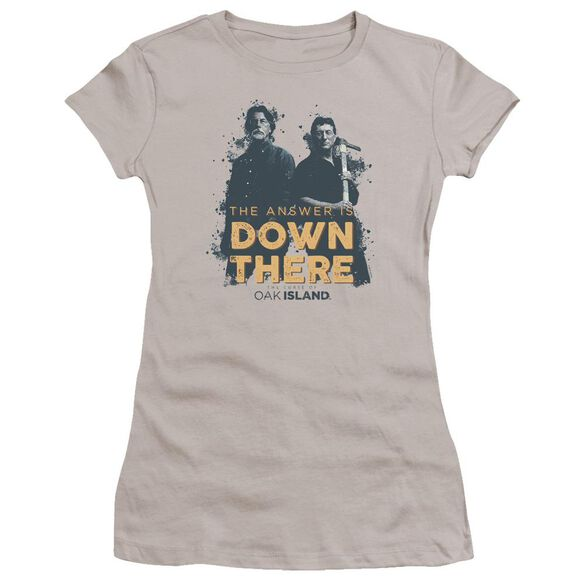 The Curse Of Oak Island Down There Hbo Short Sleeve Junior Sheer T-Shirt