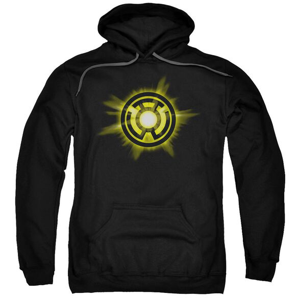 Green Lantern Yellow Glow Adult Pull Over Hoodie