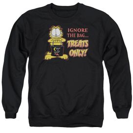 Garfield Treats Only - Adult Crewneck Sweatshirt - Black