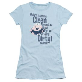 Mr Bubble Clean And Dirty Short Sleeve Junior Sheer Light T-Shirt