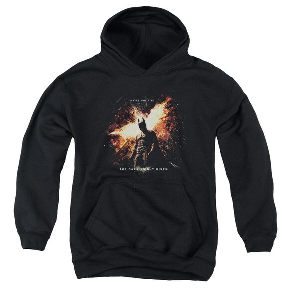 Dark Knight Rises Fire Will Rise Youth Pull Over Hoodie