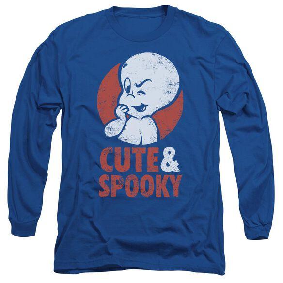 Casper Spooky Long Sleeve Adult Royal T-Shirt