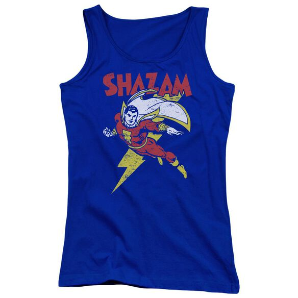 Dc Let's Fly Juniors Tank Top Royal
