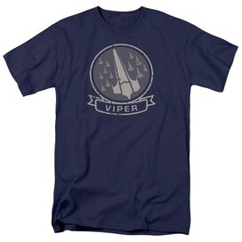Bsg Viper Squad Short Sleeve Adult Navy T-Shirt