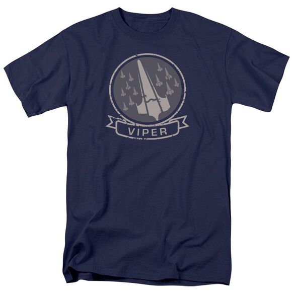 Bsg Viper Squad Short Sleeve Adult Navy T-Shirt
