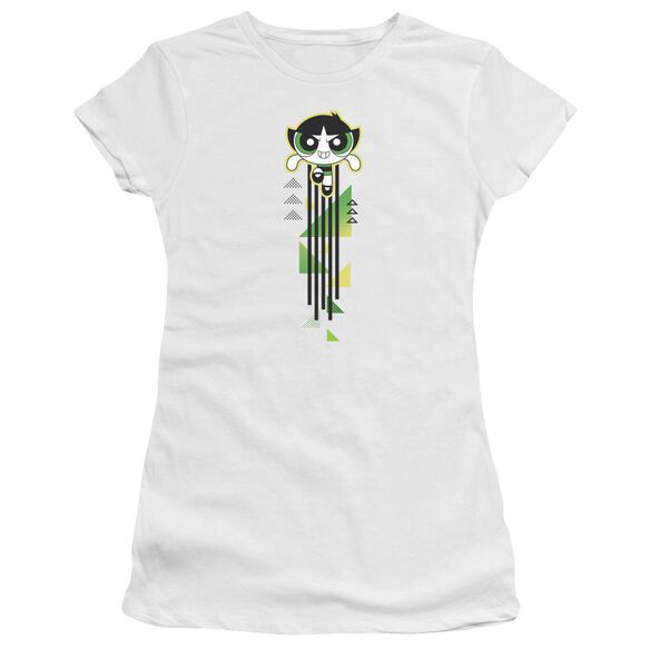 Powerpuff Girls Buttercup Streak Short Sleeve Junior Sheer T-Shirt