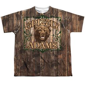 Grizzly Adams Paw Prints Short Sleeve Youth Poly Crew T-Shirt