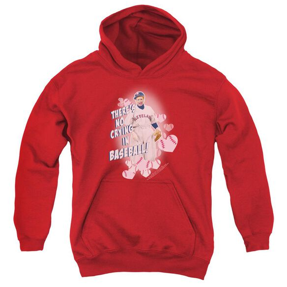 I Love Lucy No Crying In Baseball Youth Pull Over Hoodie