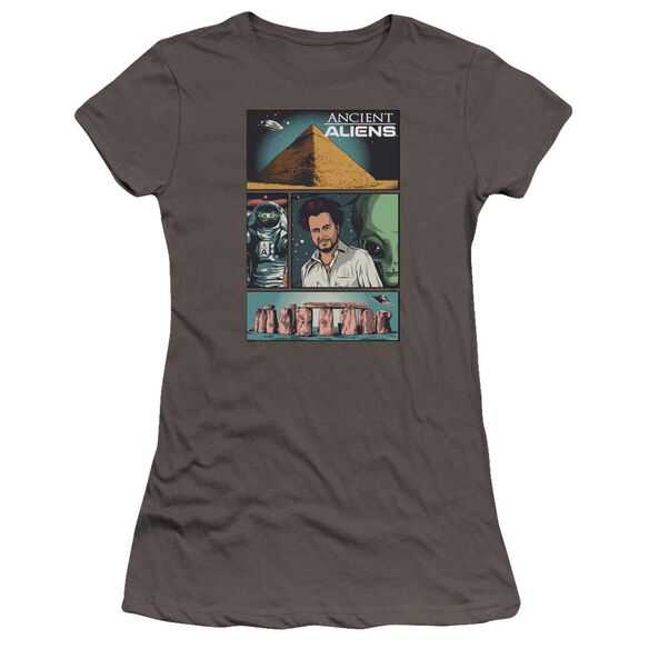 Ancient Aliens Aliens Comic Page Hbo Short Sleeve Junior Sheer T-Shirt