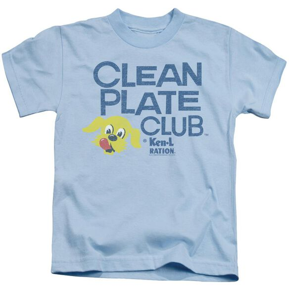 Ken L Ration Clean Plate Short Sleeve Juvenile Light Blue Md T-Shirt