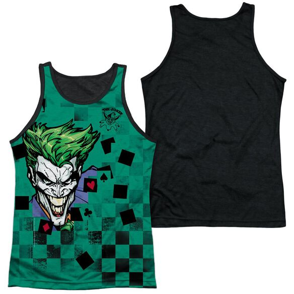 Batman Boxed Clown Adult Poly Tank Top Black Back
