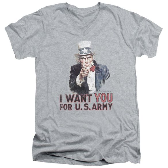 Army I Want You Short Sleeve Adult V Neck Athletic T-Shirt