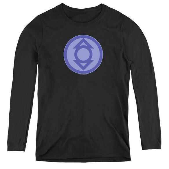 Green Lantern Indigo Symbol - Womens Long Sleeve Tee - Black