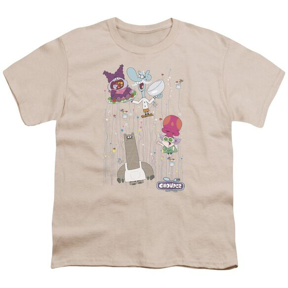 Chowder Dots Collage Short Sleeve Youth T-Shirt