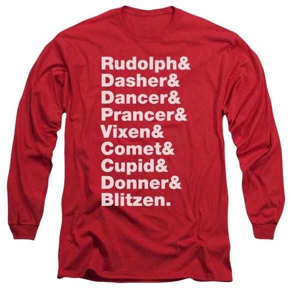 Reindeer Long Sleeve Adult T-Shirt