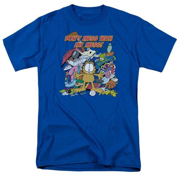 Garfield My Mess Short Sleeve Adult Royal T-Shirt
