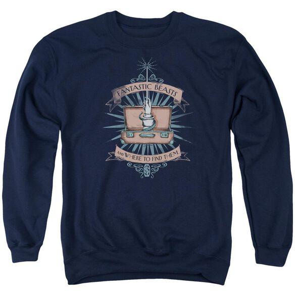Fantastic Beasts Briefcase Adult Crewneck Sweatshirt