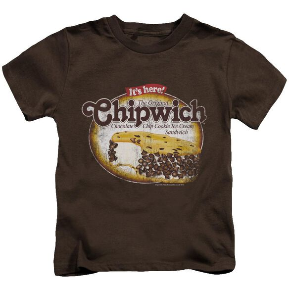 Chipwich Distressed Chipwich Short Sleeve Juvenile Coffee T-Shirt