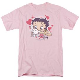 BETTY BOOP PUPPY LOVE - S/S ADULT 18/1 - PINK T-Shirt