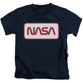 Nasa Rectangular Logo Short Sleeve Juvenile Navy T-Shirt