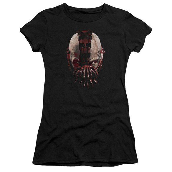 Dark Knight Rises Bane Mask Short Sleeve Junior Sheer T-Shirt