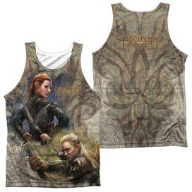 Hobbit Elves (Front & Back Print) Adult 100% Poly Tank Top