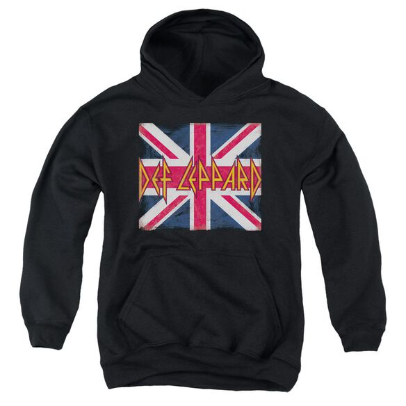 Def Leppard Union Jack Youth Pull Over Hoodie