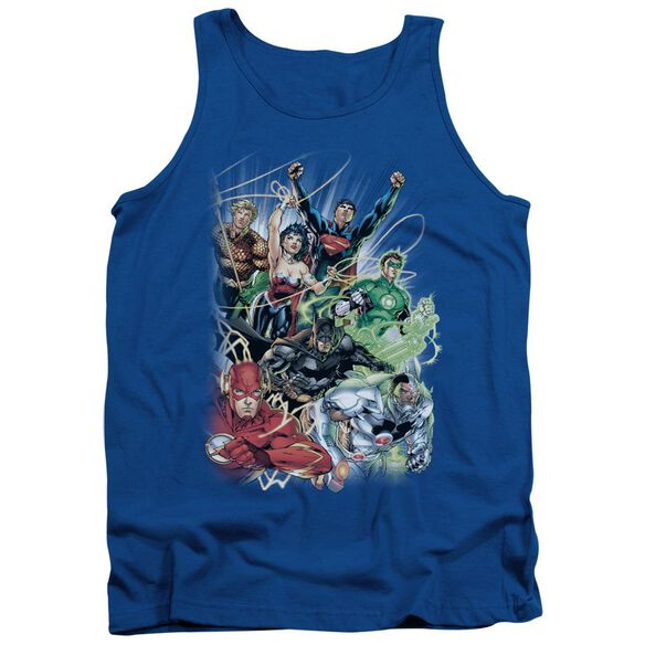 Jla Justice League #1 Adult Tank Royal