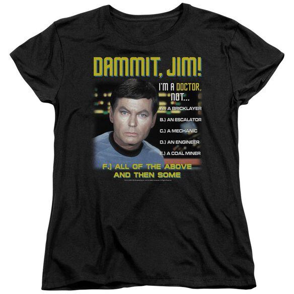 Star Trek All Of The Above Short Sleeve Womens Tee T-Shirt