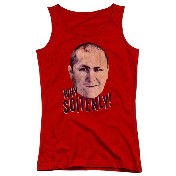 Three Stooges Why Soitenly Juniors Tank Top
