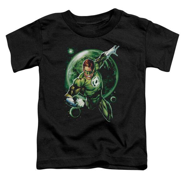 Green Lantern Galaxy Glow Short Sleeve Toddler Tee Black T-Shirt