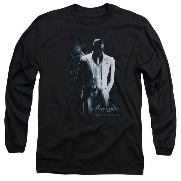 Batman Arkham Origins Mask Long Sleeve Adult T-Shirt