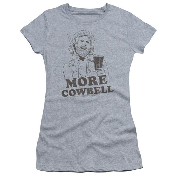 Snl Illustrated Cowbell Short Sleeve Junior Sheer Athletic T-Shirt