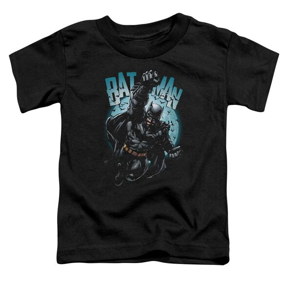 Batman Moon Knight Short Sleeve Toddler Tee Black T-Shirt
