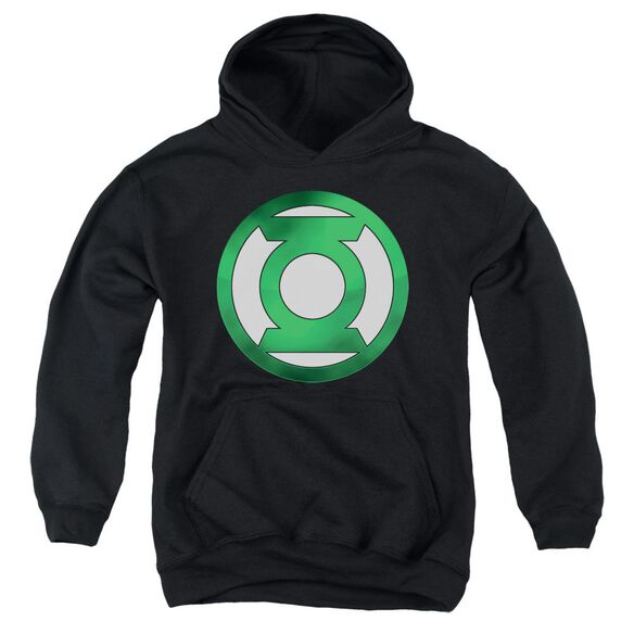 Green Lantern Green Chrome Logo Youth Pull Over Hoodie