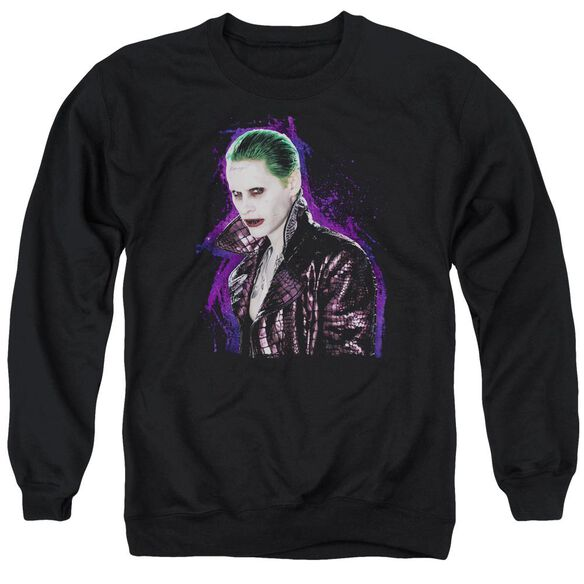 Suicide Squad Joker Stare Adult Crewneck Sweatshirt