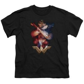 Wonder Woman Movie Arms Crossed Short Sleeve Youth T-Shirt