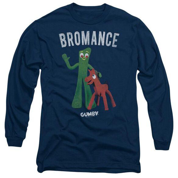 GUMBY BROMANCE - L/S ADULT 18/1 - NAVY T-Shirt