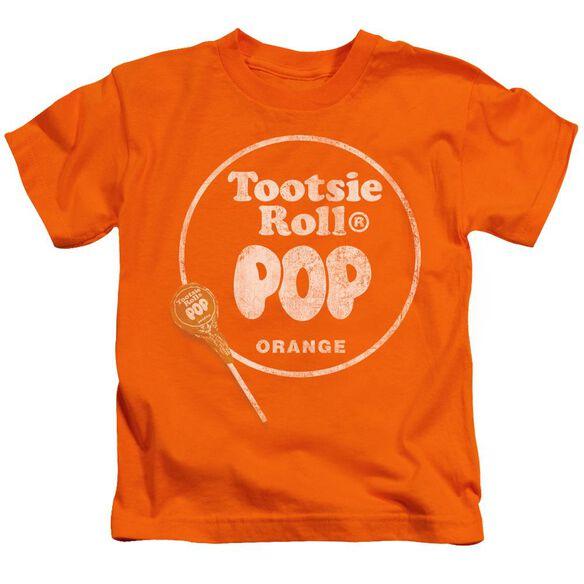Tootsie Roll Pop Logo Short Sleeve Juvenile Orange Md T-Shirt