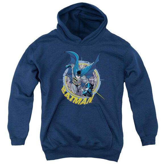 Batman In The Crosshairs Youth Pull Over Hoodie